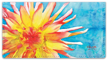 Floral Series 1 Checkbook Cover