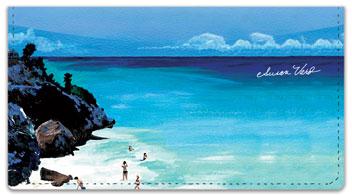 Beach Scene Checkbook Cover