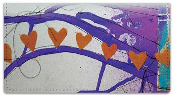 Dina Wakley Heart Checkbook Cover