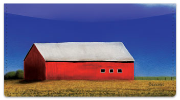 Barns Close Up Checkbook Cover