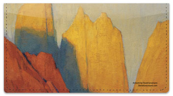Mountain Painting Checkbook Cover