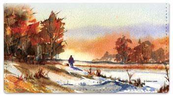 Fall Landscape Checkbook Covers