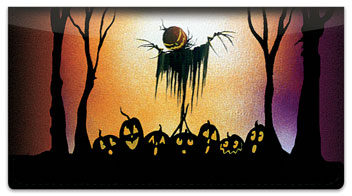 Scary Scarecrow Checkbook Cover