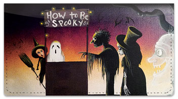 Halloween Art Checkbook Cover