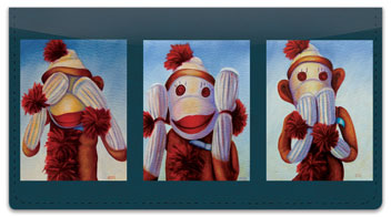 Sock Monkey Checkbook Cover