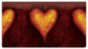 Heart of Gold Checkbook Cover