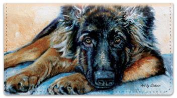 Shahmiri Dogs Checkbook Cover