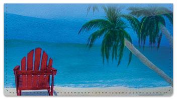Beach Art Checkbook Cover