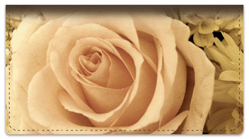 Beautiful Rose Checkbook Cover