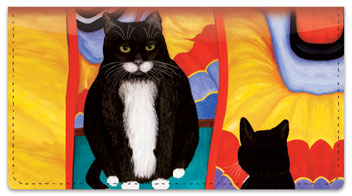 Contemplating Cats 4 Checkbook Cover