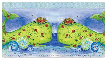 LaBrecque Whale Checkbook Cover
