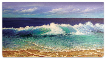 Crashing Wave Checkbook Cover