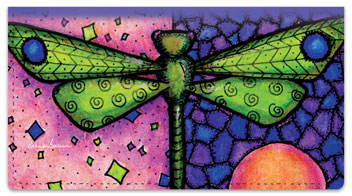 Dragonfly Art Checkbook Covers