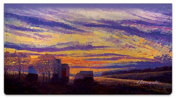Lovely Sunset Checkbook Covers