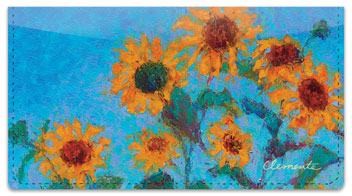 Clemente Sunflower Checkbook Covers