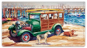 Doggies on Board Checkbook Cover