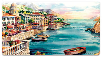 Romantico Villaggio Checkbook Cover