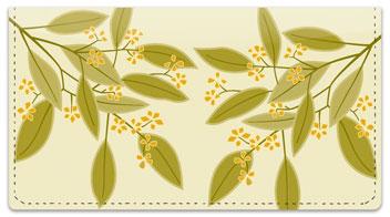 Foliage Checkbook Cover