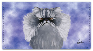 Persian Cat Checkbook Cover