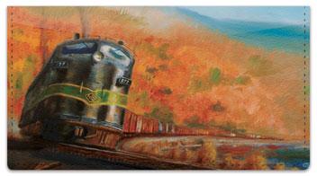 Classic Diesel Locomotive Checkbook Cover