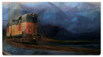 Railroads West Checkbook Cover