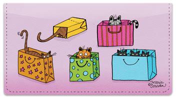 Scrivan Cats Checkbook Cover