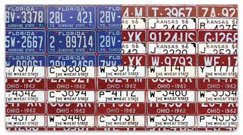 Americana License Plate Checkbook Cover