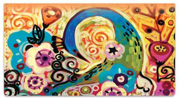 Peacock Art Checkbook Cover
