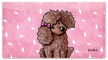 Poodle Series Checkbook Cover