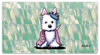 Westie Princess Checkbook Cover