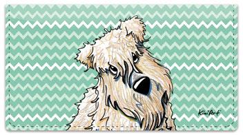 Wheaten Terrier Series Checkbook Cover