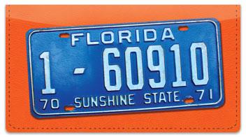 Florida License Plate Checkbook Cover