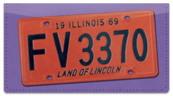 Illinois License Plate Checkbook Cover