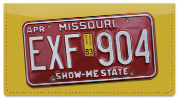 Missouri License Plate Checkbook Cover