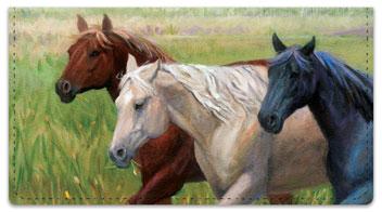 Madaras Horses Checkbook Cover