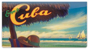Cuba Art Checkbook Cover