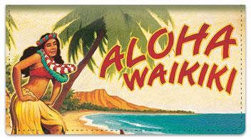 Hawaiian Art Checkbook Cover