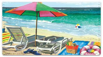 Westmoreland Beach Checkbook Cover