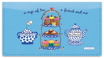 Carol Eldridge Tea Time Checkbook Cover
