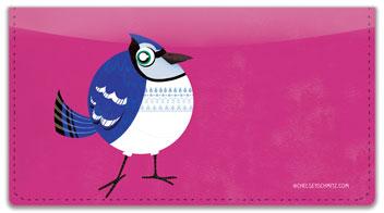 Round Bird Checkbook Cover