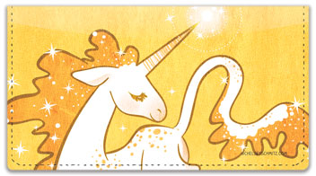 Cute Unicorn Checkbook Cover