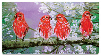Fine Feathered Friends Checkbook Cover
