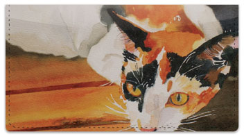 Calico Cat Checkbook Cover