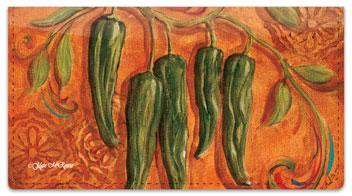Santa Fe Chili Pepper Checkbook Cover