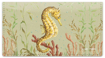 McRostie Seahorse Checkbook Cover