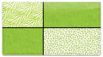 Wild About Lime Checkbook Cover