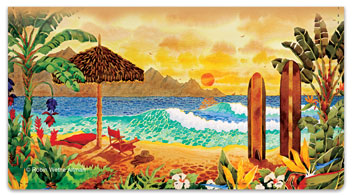 Altman Beach Checkbook Cover