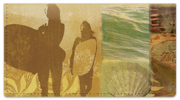Surfing Journal Checkbook Cover