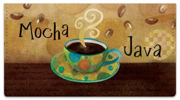 Zipkin Coffee Checkbook Cover