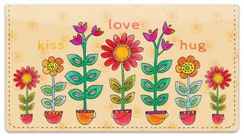 Garden Show Checkbook Cover